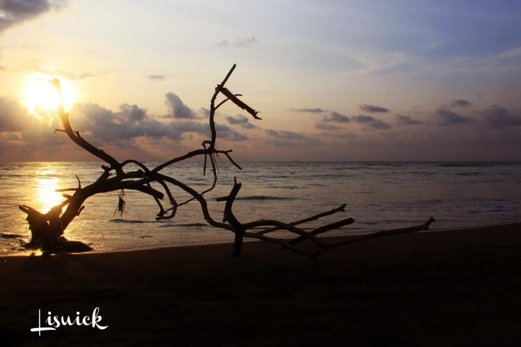 sunset on the beach puruih Padang,West Sumatra