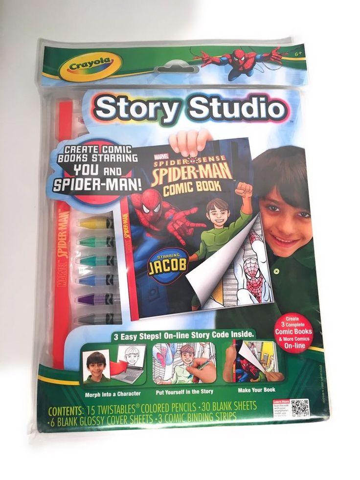 Crayola Story Studio Comic Maker Spiderman  **- 71662099152 | eBay
