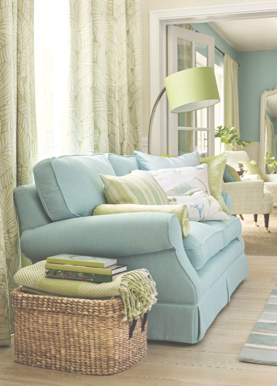 Laura Ashley Spring/Summer Palm House/ Love The Soft Green And Blue.