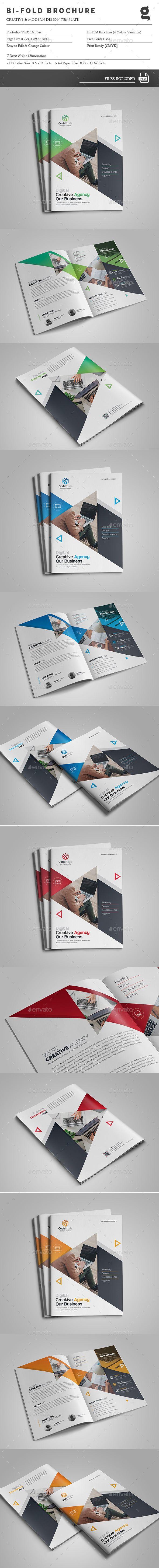 The Bi-Fold Brochure Template PSD - A4 & US Size