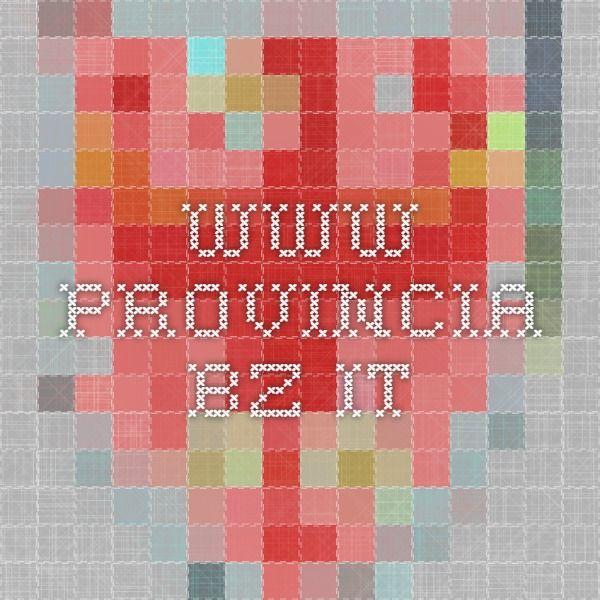 www.provincia.bz.it L'insegnamento del tedesco