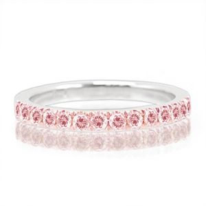 Bulrush Designer Jewelry - Pink Diamond Pave Wedding Band #blush #forthebridemag #wedding #bride