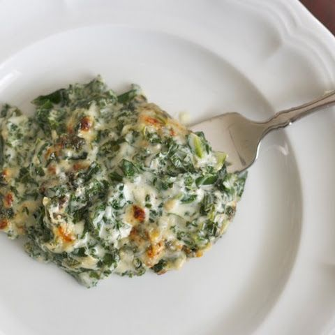 Creamed Kale (or spinach or collards or turnip greens)