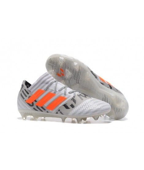 Adidas Nemeziz 17.1 FG FAST UNDERLAG ACC Vit Svart Orange Grå Fotbollsskor