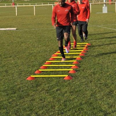 Training Ladders - http://sportnetting.co.uk/collections/football-training-equipment/products/central-cone-ladder-set