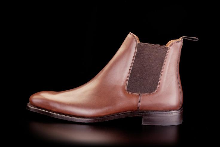 Loding - Bottines - Ranch marron foncé patiné box - Shoes & Shirts