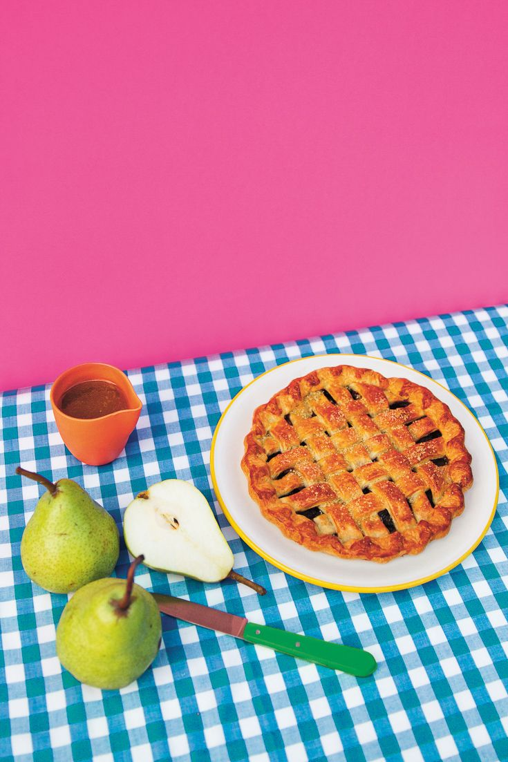 Pear + Blueberry Pie featured in Lunch Lady Issue Three. Lunch Lady Magazine available at http://shop.hellolunchlady.com.au/