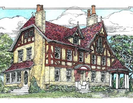 17 best images about english tudor on pinterest house for Tudor revival house plans