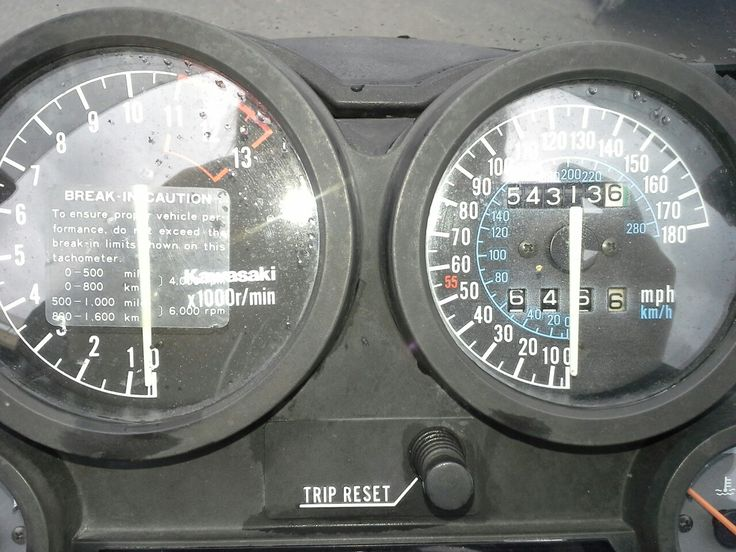 Meter still has the Run-In guide, one of the most annoying things with a new bike.