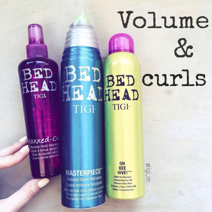 Volume and curls by TIGI