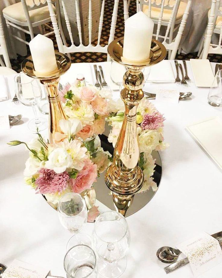 Sweet and Pretty floral and hold detailed wedding centerpiece
