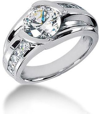 Platinum-Mens-Diamond-Ring-2.99ct: This Platinum Men's Diamond Ring features 2.99 carats of round diamonds (11 diamonds). The center diamond is 2.50ct. This men's diamond ring is available in Platinum, 18k or 14k yellow, rose, white gold, various sizes, and can be customized with any color and quality diamonds.