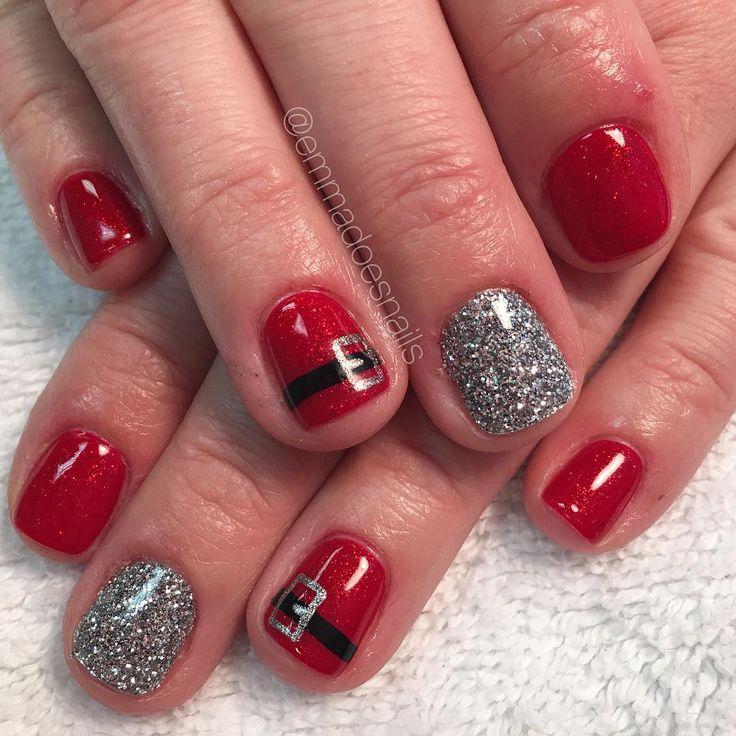 Best 25+ Santa nails ideas on Pinterest | Xmas nail ...