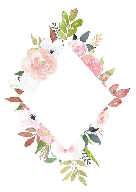 Rose Floral Frames Pre Made Flower Arrangements Watercolor Png