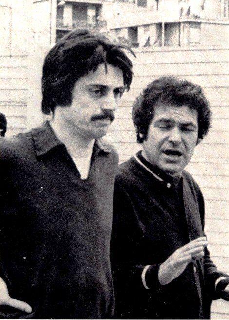 Aldo Agroppi con Gustavo Giagnoni.