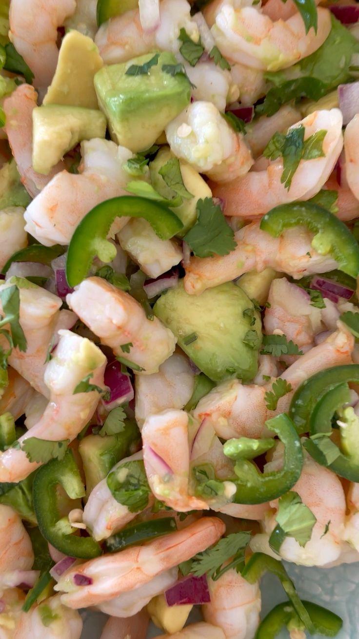 Ww Recipes, Fish Recipes, Seafood Recipes, Cooking Recipes, Simple Shrimp Recipes, Mexican Shrimp Recipes, Shrimp Salad Recipes, Recipies, Healthy Dishes