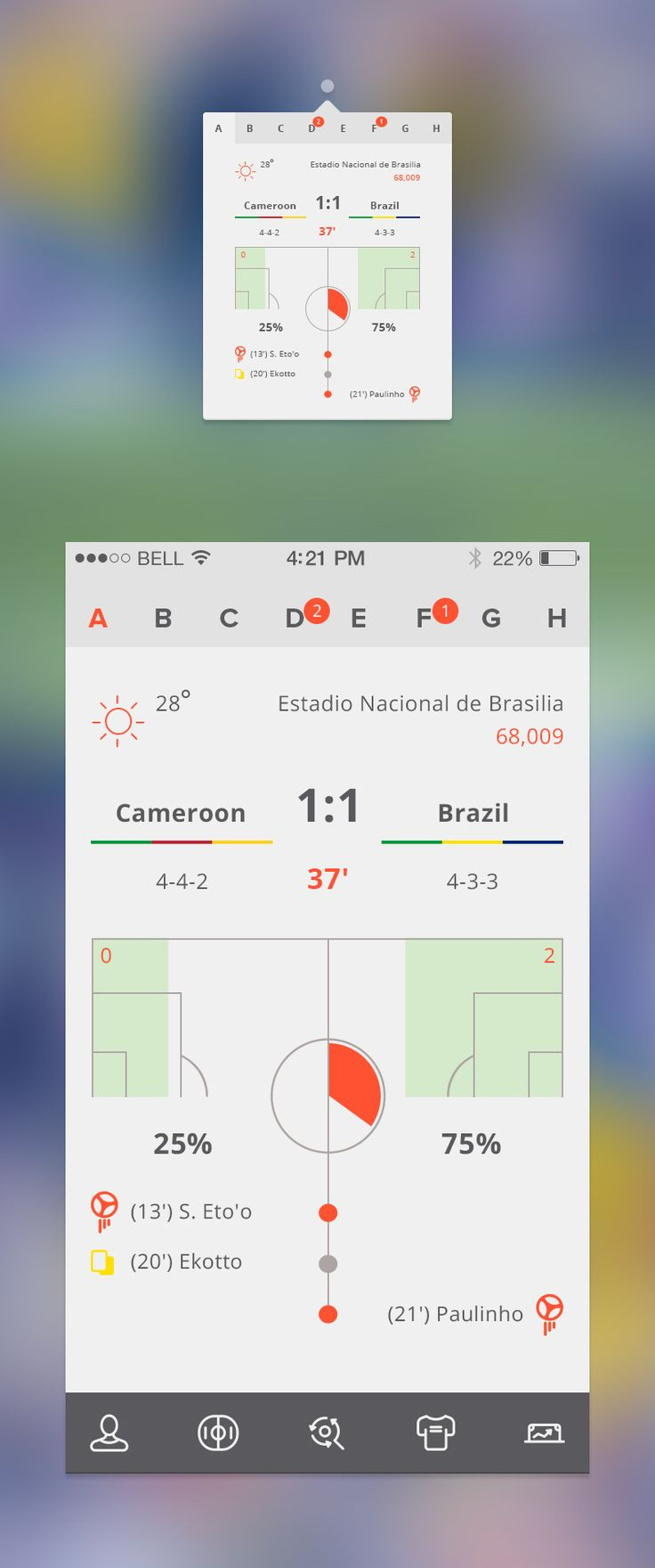 Free Soccer Apps by spovv - Free PSD available after the click :) -