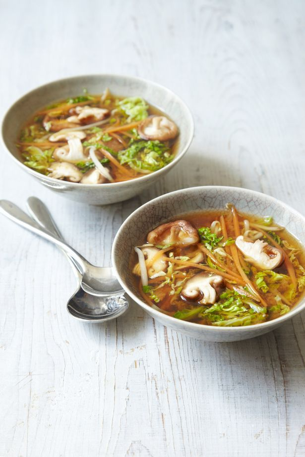 Light miso broth with veggies and other recipes