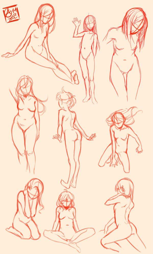 Female Pose Study by Fishiebug.deviantart.com on @deviantART