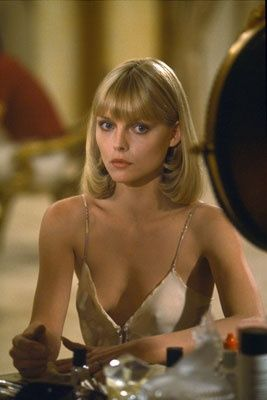 Michelle: Celebrity Woman, Michelle Pfeiffer, Michele Phifer Scarface, Movie, Icons, Scarface Fashion, Hair Style, Michele Pfeiffer, Blunt Cut