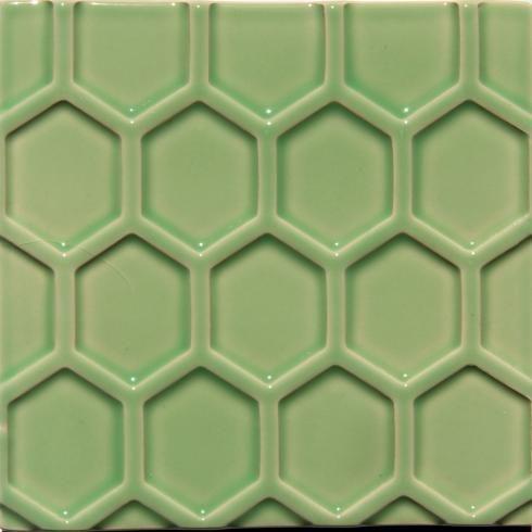 honingraat tegels 14 x 14 x 1,5 cm Honey lichtgroen per m2