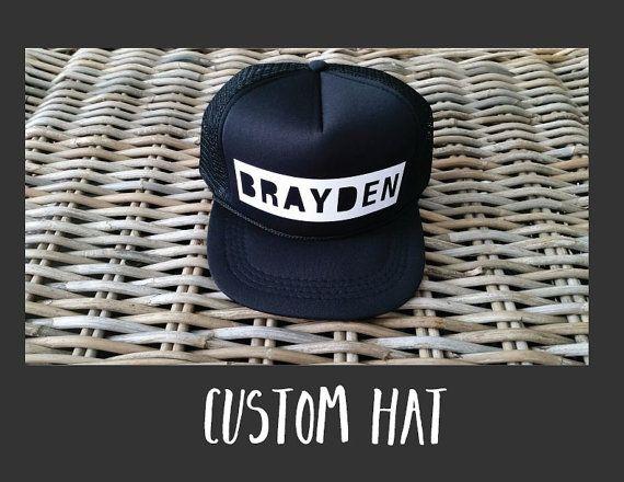 CUSTOM BLOCK LETTER Kids Snapback Hat | Toddler Trucker Hat | Baby Trucker Hat | Baby Snapback | Kids Trucker Hat | Kid Snapback | Kids Mesh