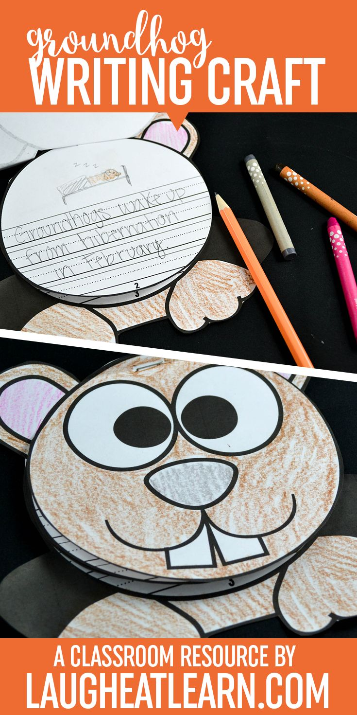 This curious groundhog writing book is perfect for any activity during the beginning of February. The groundhog book comes with 3 spaces to write, each piece flipping to the top (or left) to create a book. The ears and arms of the groundhog are tabs to the next page (if stapled to the left). This curious groundhog book is giving students the flexibility to create any type of story, non-fiction text, or prediction story!