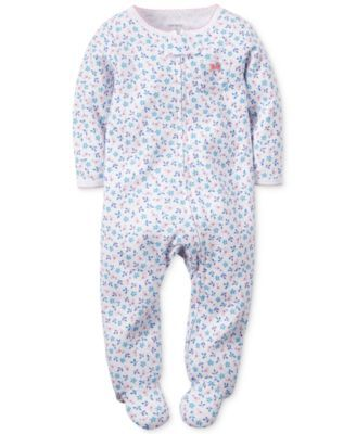 Carter's Baby Girls' Floral-Print Coverall