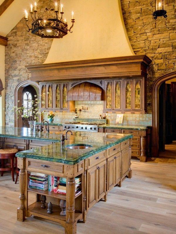 stone wall in kitchen grand italian style kitchen 600x799 mediterranean style italian