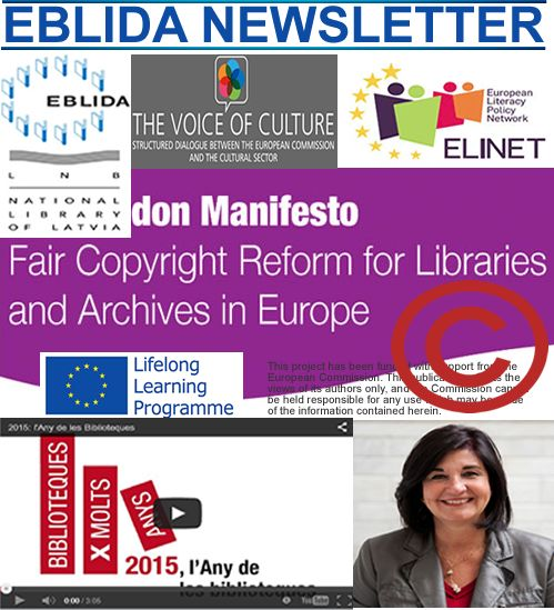 EBLIDA Newsletter Issue No.4. April 2015