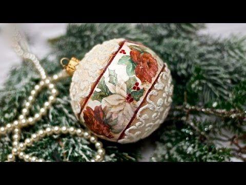 Видео МК - Декупаж новогоднего шара.. Обсуждение на LiveInternet - Российский Сервис Онлайн-Дневников
