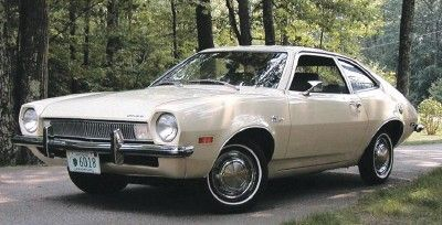1971 Ford Pinto, beige with brown sport stripe. No one tail gated me.