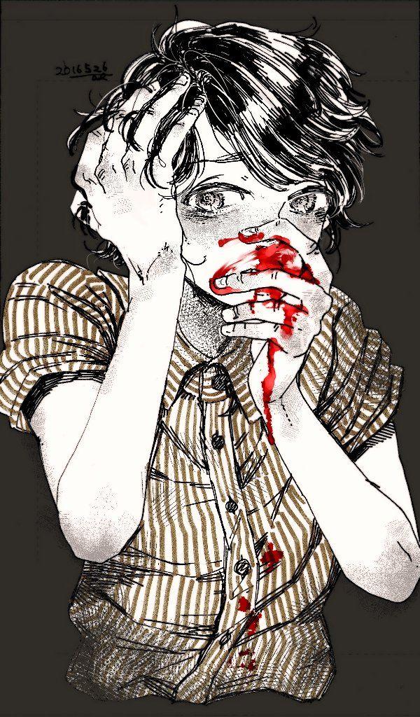"arb111n0: "" 止まらない "" guro anime boy"