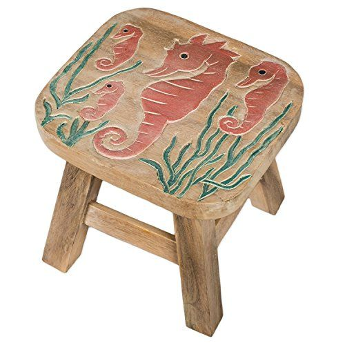 Seahorse Design Hand Carved Acacia Hardwood Decorative Short Stool >>> To view further for this item, visit the image link.Note:It is affiliate link to Amazon.