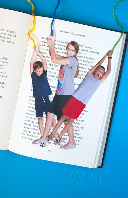 Fun Photo Bookmarks - cute for end of year gift to encourage reading over the summer