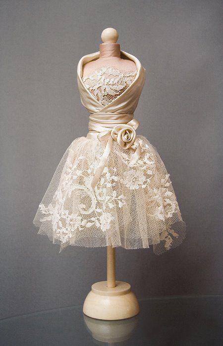 Свадебные статуэтки. Миниатюрные платья. Подарок на свадьбу! - Ярмарка Мастеров - ручная работа, handmade