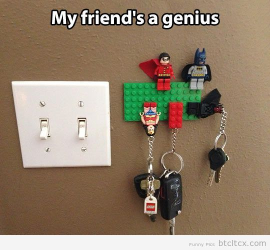 Lego key holder…   Funny Pictures
