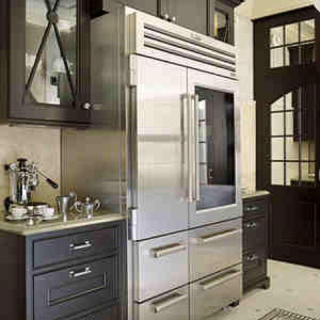 Antique White Kitchen Cabinets With Black Appliances: My Dream Fridge...