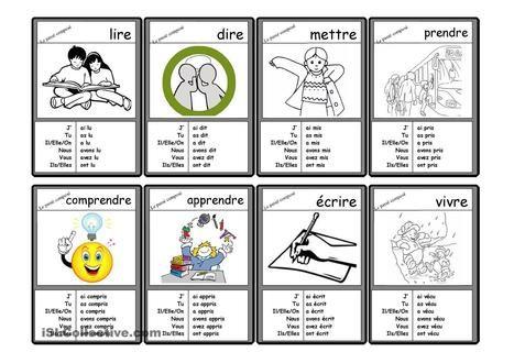 Le Passé Composé - 40 cartes verbes irréguliers au Passé Composé | fleenligne | Scoop.it