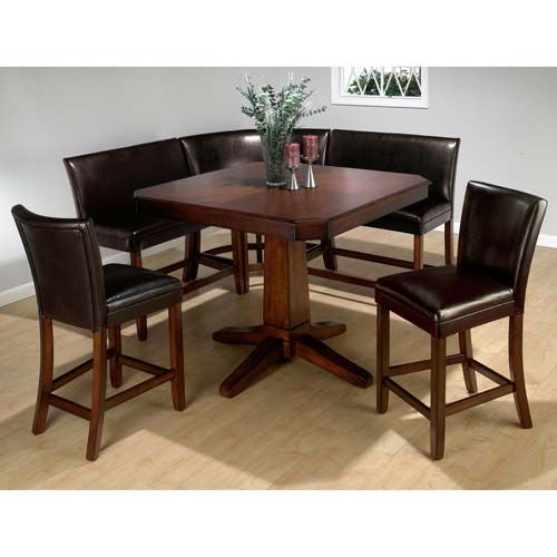 Picnic Kitchen Table With Benches Upholstered Chairs