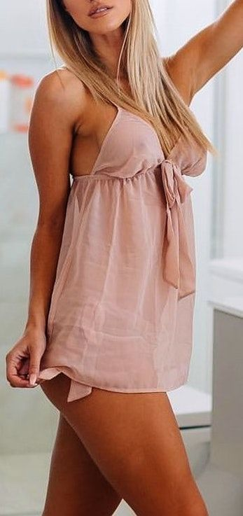 #Summer #Outfits / Nude Playsuit