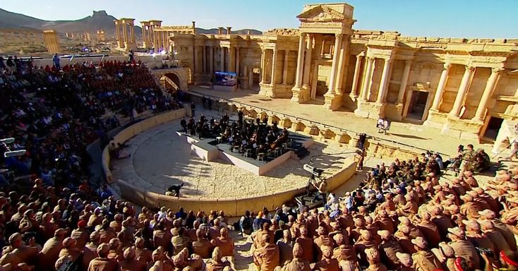 In Syria, Russia Plays Bach Where ISIS Executed 25.  Russia sent an orchestra to play in Palmyra, retaken in March from the Islamic State.