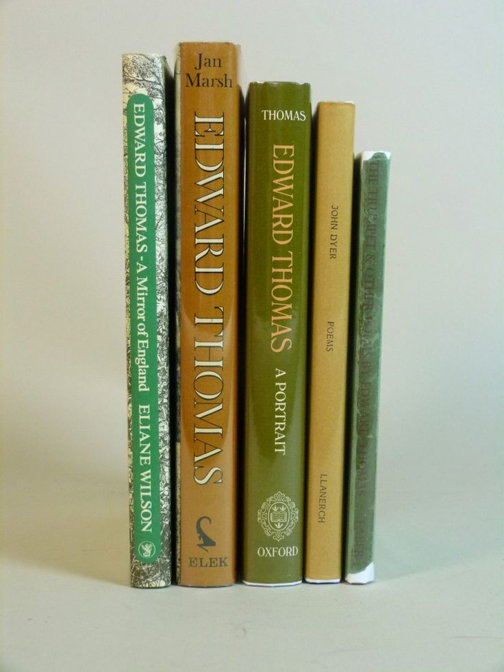 Edward Thomas, five books including poetry and biography