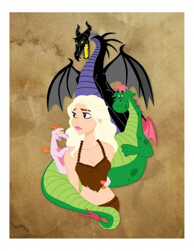 Disney's The Dragon Queen!  I debated whether or not to put this on my princess board or on my nerd boared.  Nerd won so it can be with the other Game of Thrones pics.