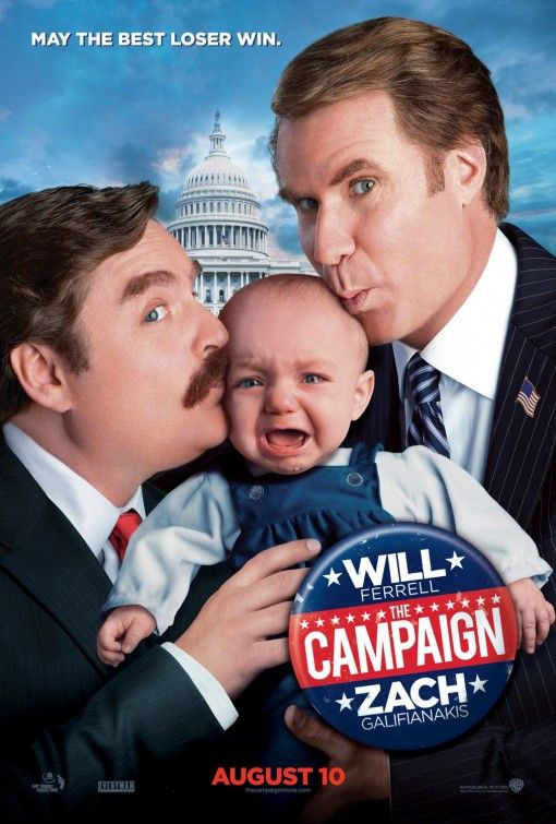 """Will Ferrell and Zach Galifianakis star in the political satire """"The Campaign."""" Find it in the comedy new release section."""