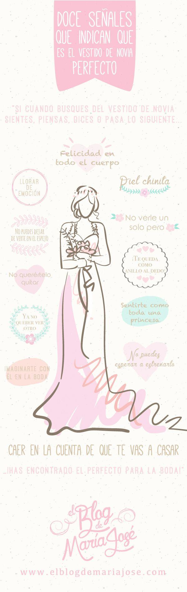 Doce señales que indican que es el vestido de novia perfecto #bodas #ElBlogdeMaríaJosé #VestidoNovia #LookNovia