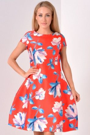 Deanna Floral Dress in Red