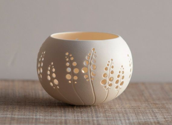 Love this handmade porcelain votive holder on Etsy
