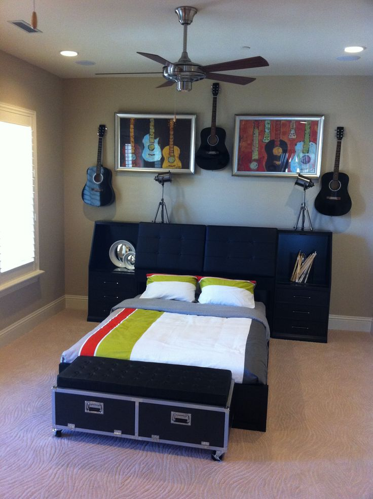 Rock And Roll Bedroom Part - 49: 111 Best Boys Rooms Images On Pinterest | Bedroom Ideas, Music And Music  Rooms