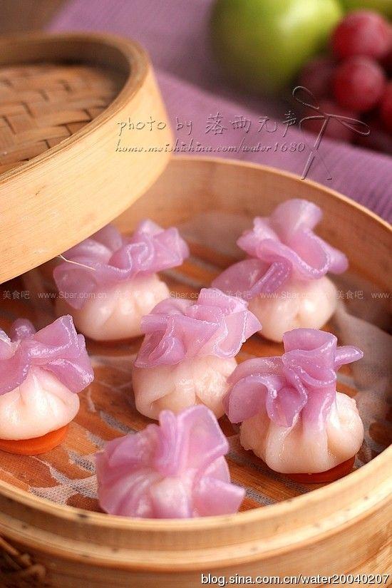 花边水晶虾包(小点心) Chinese food and dimsum